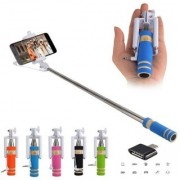Combo of 1 Mini Selfie Stick and 1 Otg Adapter (Assorted Color)