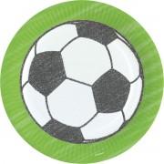 Amscan Feestborden Voetbal Junior 23 Cm Papier Zwart/wit 8 Stuks