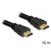 DeLock High Speed HDMI-kábel típusú Ethernet – HDMI A dugós > HDMI A dugós 10m Black 82709