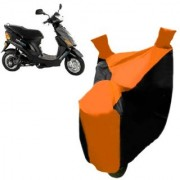 AutoAge Orange with Black Two Wheeler Cover For Electric E-Sprint Hero Electric Bikes