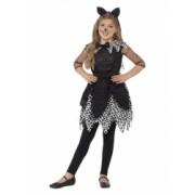 Costum de carnaval de pisica de la miezul noptii pentru copii 4-6 ani