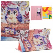3D Pattern Printing PU Leather Stand Shell Tablet Case for iPad 10.2 (2019) - Owls