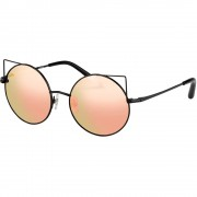 Ochelari de soare MW122C5SUN Shiny Black/Black/Peach Mirror Mix Femei