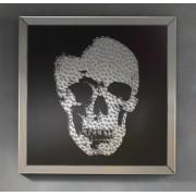 items-france PHIL - Cadre miroir tête de mort en strass design 100cm x 100cm