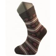 Gyerek zokni - Szürke rózsaszín-fehér csíkos 31-32