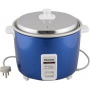 Panasonic SR-WA18H (YT) 660-Watt with Extra Cooking Pan & 2-Dish Separator Pan Electric Rice Cooker(4.4 L, Blue, Pack of 2)
