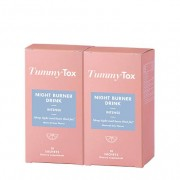 TummyTox Night Burner Drink 1+1 GRATIS Quemagrasas nocturno para mujeres Programa para 20 días Sabor a lima natural 2x 10 sobres