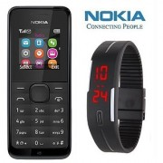 Nokia 105 / Good Condition/ Certified Refurbished ( 1 Year Warranty) with Silicon Watch