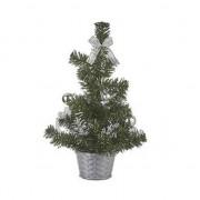 Merkloos Mini kunst kerstboom zilver 32 cm