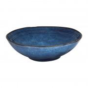Xenos Schaal Toscane - donkerblauw - 30 cm