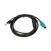 YKT-AB054 Coche Cable AUX Con El KCE-236B Puerto De Carga Para El IPhone 5/5s/5C/6/6 Plus -negro