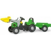 Tractor Cu Pedale Si Remorca Copii ROLLY TOYS 023196 Verde