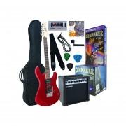 Paquete De Guitarra Eléctrica Yamaha Gigmaker ERG121CGPIIMR-Rojo