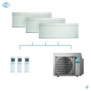 DAIKIN climatisation tri split mural gaz R32 Stylish White FTXA-AW 6kW WiFi FTXA20AW + FTXA20AW + FTXA35AW + 3MXM68N A++