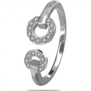 Silver Shine 92.5 Sterling Silver Curv Flower Sterling Silver Ring for Women Girls