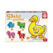 Educa Háziállatos bébi puzzle, 5 az 1-ben
