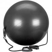 Avento Minge de fitness cu tuburi de rezistență negru 65cm 41TO-ZWG-65