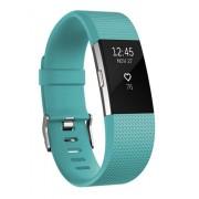 Fitbit Charge 2 Wristband activity tracker Nero, Colore foglia di tè OLED Senza fili