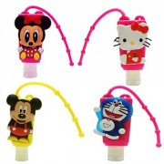 6th Dimensions Portable Lovely Cartoon Hand Sanitizer / Hand Gel - For Kids Pack of 4