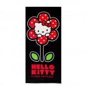 Плажна кърпа Hello Kitty 70x140 черна