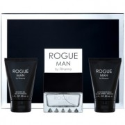 Rihanna Rogue coffret II. Eau de Toilette 100 ml + bálsamo after shave 90 ml + gel de duche 90 ml