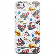 Nintendo Funda Móvil Nintendo Mario Kart Cómic para iPhone y Android - iPhone 7 - Carcasa rígida - Mate
