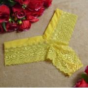 V&V Dámské krajkové kalhotky Floe (žlutá barva) - V&V