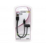 iPhone Laddkabel USB-30pin-Micro USB