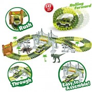 Gamzoo Race Car Track Toy With 142 Pieces Flexible Tracks Set