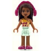 frnd249 Minifigurina LEGO Friends-Andrea,Bright Light Orange Top frnd249