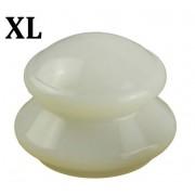 """Ventuza cu Maner din Silicon pentru Masaj Anticelulitic Profesionist Dimensiunea """"XL"""" Culoarea Alba"""