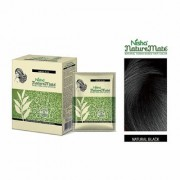 Nisha Naturemate Is Henna Based Powder Hair Color 6-in-1 10gm/each (Pack of 2) pouch Box Packaging Natural-Black