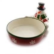 Vas pentru mancare din ceramica cu om de zapada