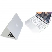 Case Carcasa + Protector De Teclado Para Macbook Air 13'' Model (A1369/A1466) -Blanco