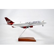 GeminiJets Virgin Atlantic Boeing 747-400 Diecast Airplane Model Ruby Tuesday G-VXLG With Stand 1:400 Scale Part# GJVIR1503