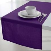 Tafelloper 50x150 cm 100% coton tissé teint Deep purple