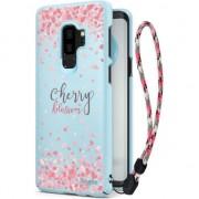 Husa telefon ringke Ringke Slim design Cherry Blossom ultra subtire acopera caz Samsung Galaxy S9 Plus + G965 lesa albastru