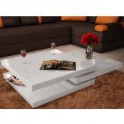 vidaXL Konferenční stolek 3vrstvý, bílý s vysokým leskem