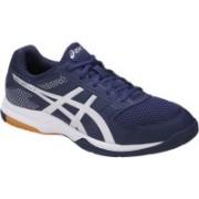 Asics GEL-ROCKET 8 Badminton Shoes For Men(Blue, White)