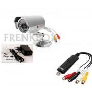 Telecamera HD visione notturna,esterno\interno + registratore USB DVR per pc