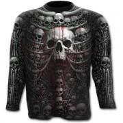 tričko pánské s dlouhým rukávem SPIRAL - DEATH RIBS - PLUS SIZE - W027M316