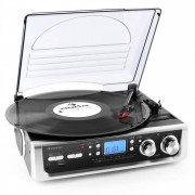 Auna TT-196E - Tocadiscos USB MP3 AM/FM (MG-TT-196E)