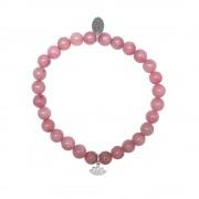 CO88 Armband Lotus Love en Fidelity staal/jade/roze, rek/all-size 8CB-17038