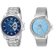 Gionee MRT-1022 Analog Stainless Steel Watch For Men Womens (Pack Of 2)