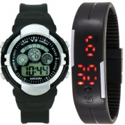 Crude Smart Combo Digital Watch-rg508 With PU Strap for - Boy's Kid's