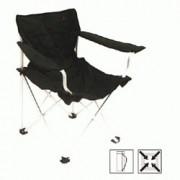 Campingová skládací židle s opěrkami - , 1 ks