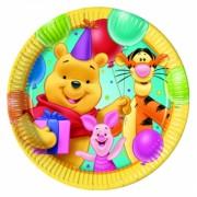 Micimackós parti tányér - kicsi - sárgás