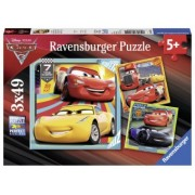 PUZZLE Copii 5Ani+ CARS, 3x49 PIESE