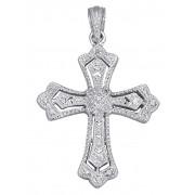 """KLiNGEL Pendentif """"""""croix"""""""" serti d'un diamant KLiNGEL Coloris argent"""