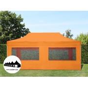 3x6m összecsukható pavilon ablakos Alutec Narancssárga